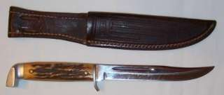 OLD VINTAGE & RARE~CASE XX~RED STAG HUNTING Fishing KNIfe 1940s w