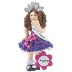 Personalized Beauty Queen Christmas Ornament