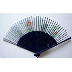 Chinese Art Painting Silk Bamboo Fan Landscape 4 Season