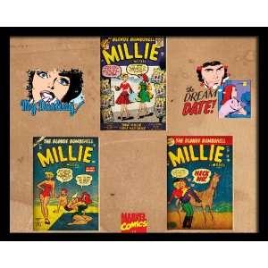 Marvel Comics Retro Romance Comic Book Covers , 8 x 10 Framed Poster