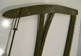 Antique Primitive Buck Saw with Original OLD Green Paint.