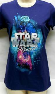 STAR WARS IN CONCERT PURPLE WOMEN T SHIRT SIZE M