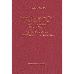 Iranian Languages and Texts from Iran and Turan (Iranica