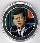 John Kennedy Collectible Coin Bio Gold color President