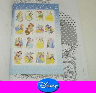 DISNEY Princesses Write Colouring Coloring STICKER Book TY03c
