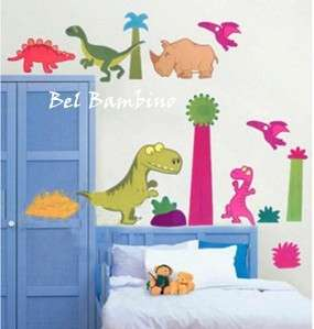 COLOURFUL DINOSAURS ANIMALS BOY Removable Wall Stickers