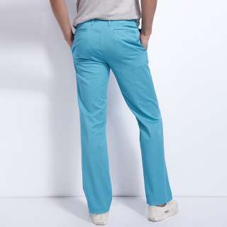 Fashion Straight Basic Comfort Fit Cotton Khaki Slacks 5 Colors