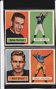 1957 Topps Football Set Complete 154 cards Unitas Starr Hornung RC Ex