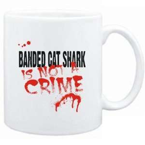 Mug White  Being a  Banded Cat Shark is not a crime  Animals