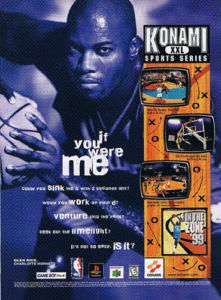 1999 Konami Sports Series Game Glen Rice Hornets Ad
