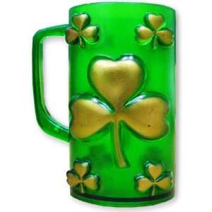 Irish Golden Shamrock Beer Mug Everything Else