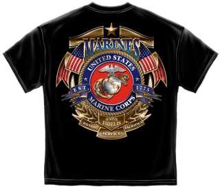 USMC T SHIRT MARINE CORPS Shirt SEMPER FIDELIS FI MM115
