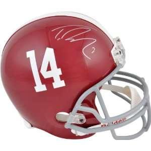 Trent Richardson Autographed Replica Helmet  Details Alabama Crimson