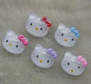 10pcs Lots mix hello kitty Flat Back Resin Buttons DIY Scrapbooking