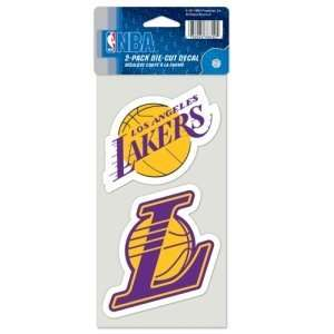 Los Angeles Lakers Set of 2 Die Cut Decals Sports