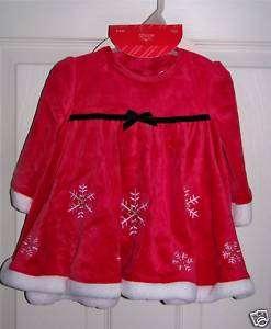 Christmas 4 pc Mrs. Santa Claus Suit 6 9M girls NEW
