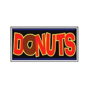 Donuts Backlit Sign 20 x 36 Home Improvement