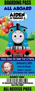 THOMAS The Train Birthday Party Invitations Tickets +