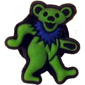 Grateful Dead Green Dancing Bear Doo Dad Shoe Charm for Rubber Clogs