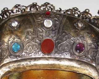 Antique Cyrillic Inscribed BC Russian Silver Icon Relic