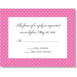 Lotsa Dots Dark Pink on Crystal Response Cards Everything