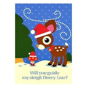 Sanrio Hello Kitty DEERY LOU Boxed Christmas Holiday Cards