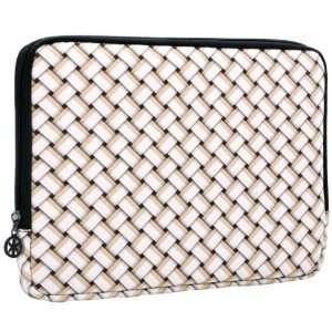 8.9   10 inch Beige White Weave Polyurethane Laptop Netbook