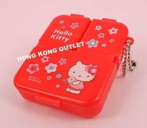 Hello Kitty Pill Case Box Storage Case Floral G28f