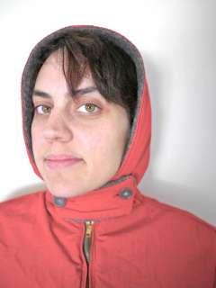 Vtg 40s Reversible Faux Fur Hooded Jacket Coat Womens