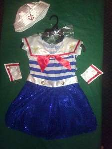 Girl pageant, OOC, RWB, OOAK Sparkly costume Wear Outfit sz.4t SAILOR