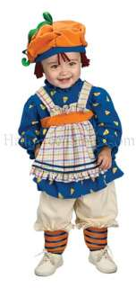 Ragamuffin Girl Toddler Costume includes dress with apron, footless