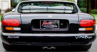 Dodge Viper RT/10 Chrome vinyl Bumper emblems IGCV2RT B