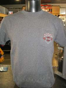 Red Rock Harley Davidson Dealership Tee  Ridin Low Pocket Tee
