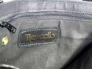 TIGNANELLO BLACK SOFT LEATHER SHOULDER/CROSSBODY BAG