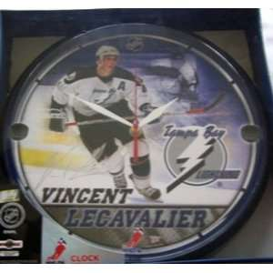 NHL Tampa Bay Lightning Vincent LeCavalier Wall Clock