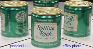 ROLLING ROCK 7 OUNCE BEER CAN LATROBE PENNSYLVANIA #104
