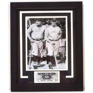 Babe Ruth and Lou Gehrig Photograph in a 13 x 16 Deluxe