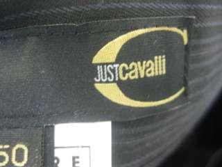 JUST CAVALLI Black Pin Stripe Dress Pants Bottoms Sz 50