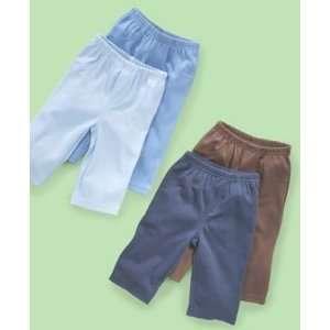 CARTERS 2 PK COMFY PACK PANTS LIGHT BLUE/BROWN 6 MONTH