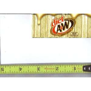Magnum, Small Rectangle Size Diet A & W Root Beer Logo Soda Vending