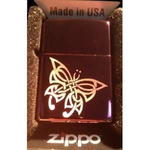 Zippo Custom Lighter   Tribal Celtic Weave Butterfly Tattoo Logo Abyss