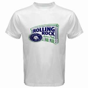Rolling Rock Beer Logo New White T Shirt Size  S  Free