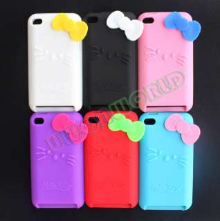 6x Hello Kitty Silicone Skin Cover Case For iPod Touch 4 4G 4th + Free