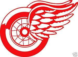 DETROIT RED WINGS Logo Window Wall STICKER Car Decal