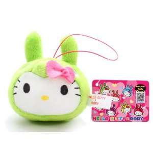 Official Sanrio Hello Kitty x Rody Plush Strap   Green Toys & Games