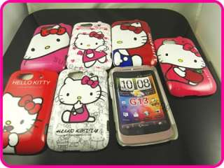 7x hello kitty hard case cover for HTC G13 Wildfire S