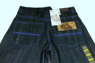 Mens Rich Kids RK Jeans Company Black Blue Stitch 34x32