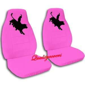 Hot pink Bull Rider seat covers, for a 2009 Ford F 150 with 40/20/40