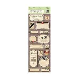 K & Company Flora & Fauna Embossed Stickers Labels & Words