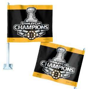 NHL 2011 Boston Bruins Stanley Cup Champion Car Flag On Ice